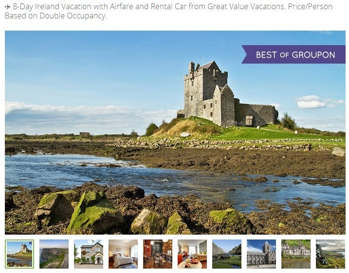 Groupon Getaways: Cure Your Vacation Rut with Great US & International Destinations #MyGrouponGetaway - 8 Day Ireland Trip including Airfare*, Rental Car, and B&B lodging - Photo Credit: Groupon.com