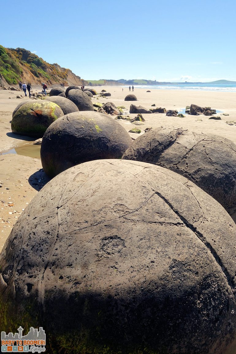 Travel New Zealand - Moeraki Boulders alien messages