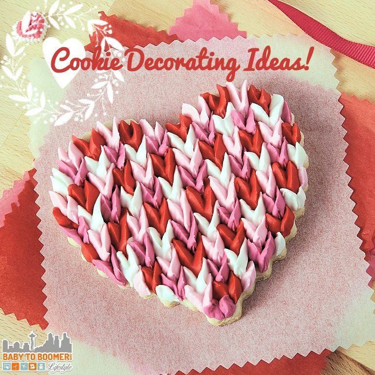 "Scalloped ""Tulip"" Valentine's Day Cookies - Cookie Decorating Ideas For Your Valentine Gifts"
