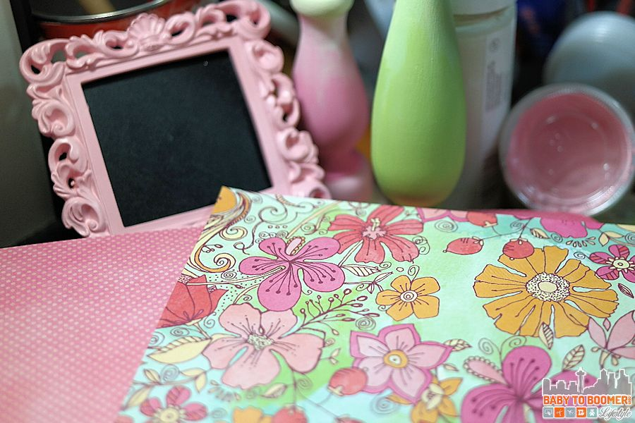 Coordinating paper with other spring decor