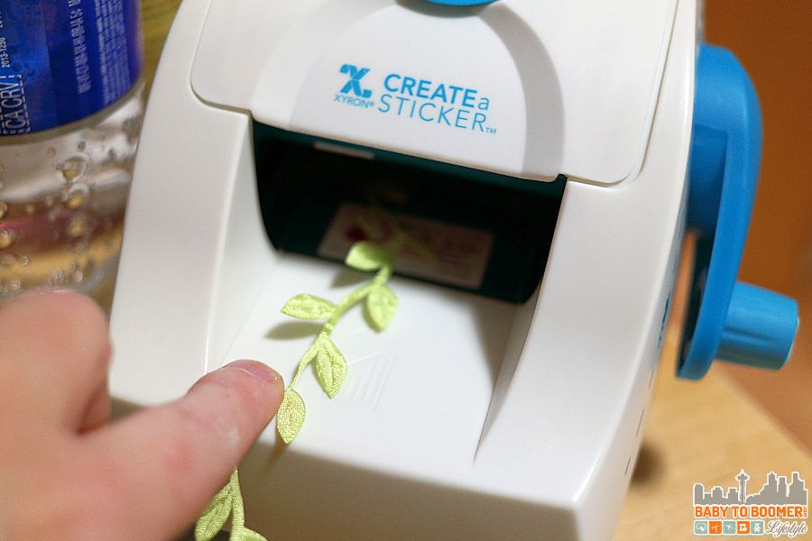 Creating a ribbon sticker with small Xyron maker