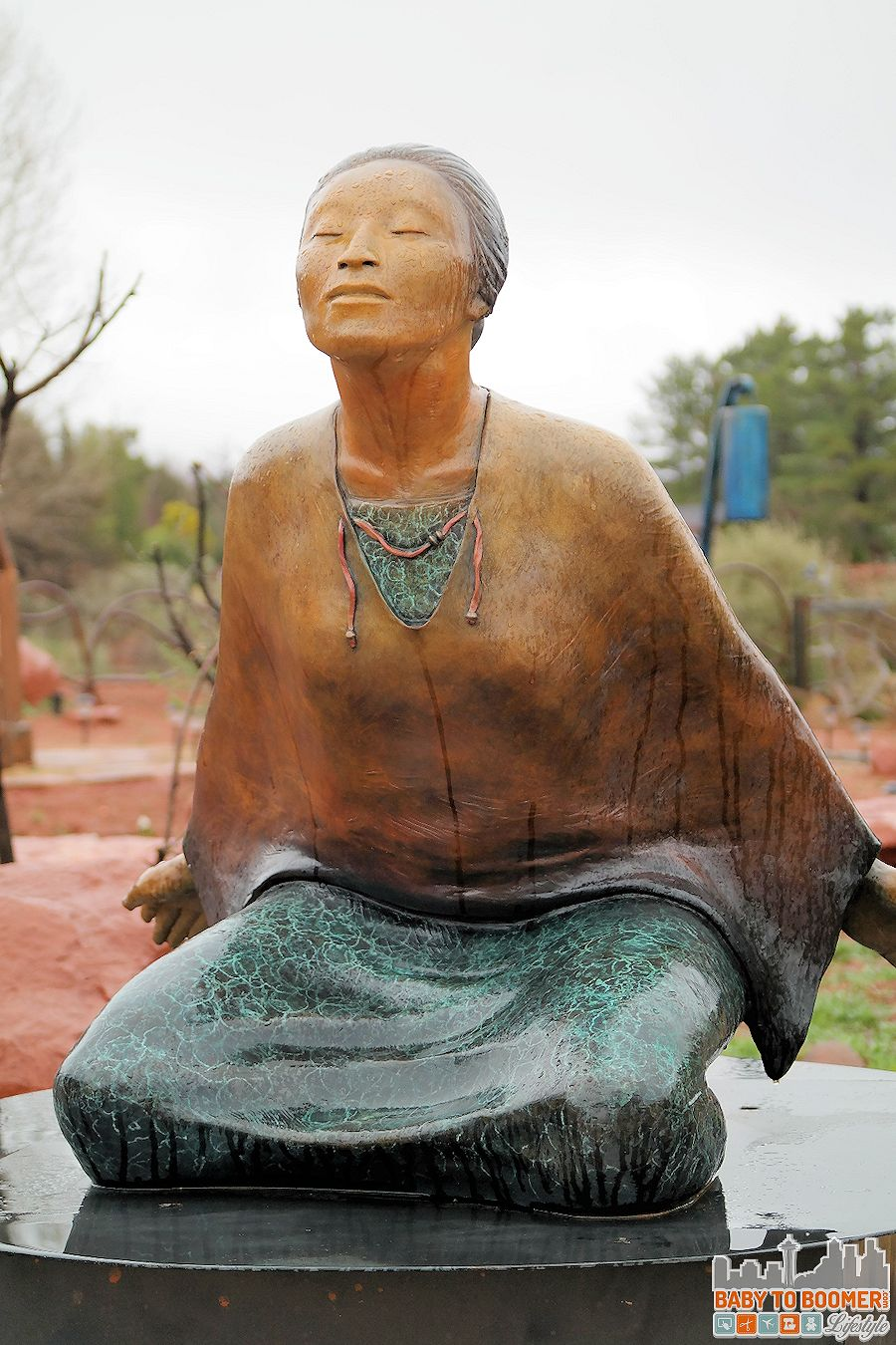 "Sedona Art: ""Dreams in Flight"" bronze sculpture by artist Liz Wolf"