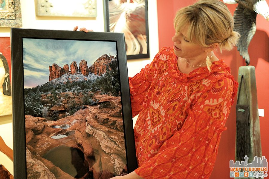 Sedona Art: Goldenstein Gallery Staff Member