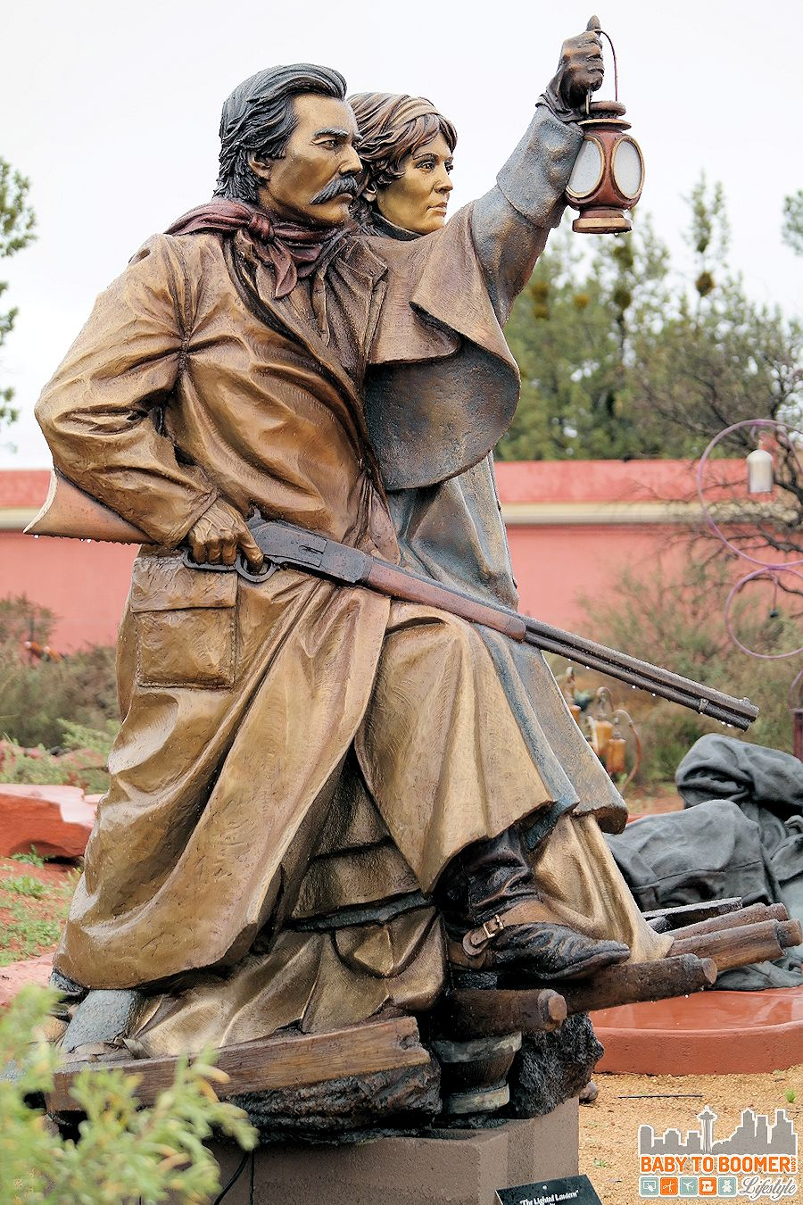 "Sedona Art: ""The Lighted Lantern"" statue by James Muir"