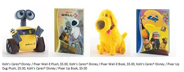 Kohl's Cares Disney Pixar Plush Books