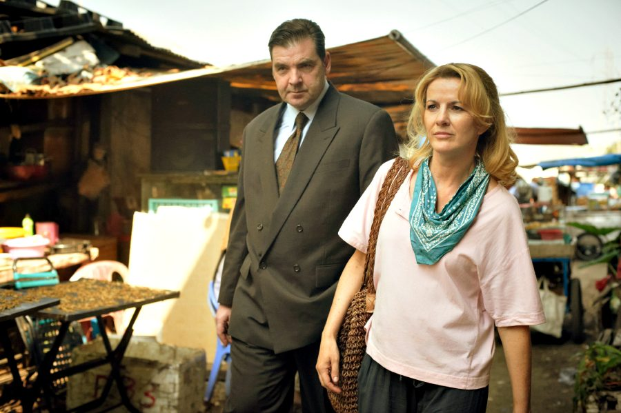 Brendan Coyle (Gerry Shaw) and Deirdre O'Kane (Christina Noble) in the NOBLE movie. Photographer credit: Nicola Dove. Photo courtesy of Aspiration Media.  ad