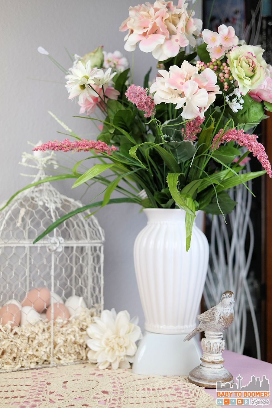 Having a heat-n-eat dinner means I have more time for putting together a little Easter decor and time to enjoy family, and that means I'm less frustrated and frazzled, and that's better for everyone.