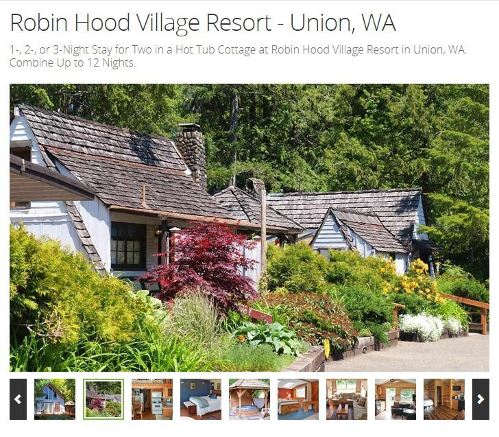 Robin Hood Village Resort - Union, WA - #MyGrouponGetaway ad