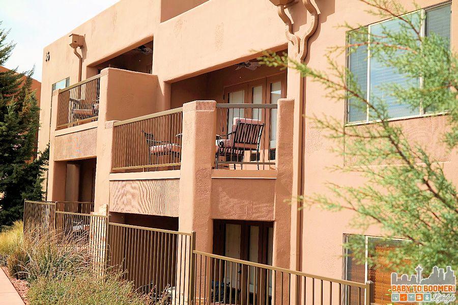Sedona Summit Resort private balcony - Groupon Getaway to Sedona Summit Resort in Arizona #Travel #MyGrouponGetaway ad