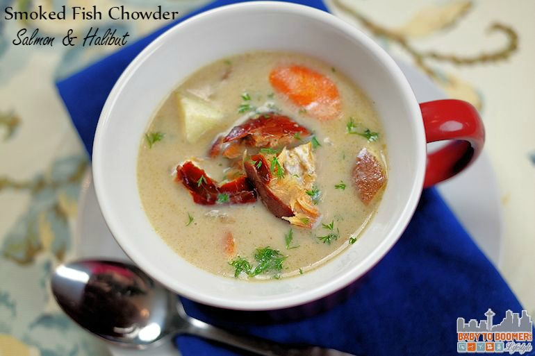 Smoked Salmon Chowder with Halibut Recipe