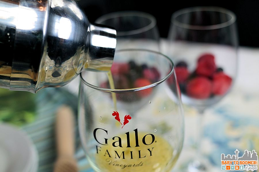 Gallo White Moscato Minty Peach Cocktail