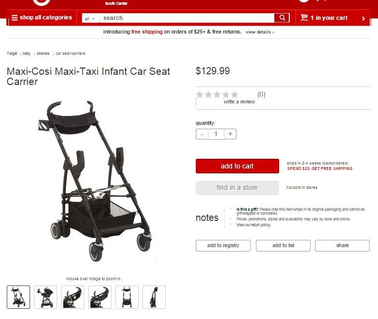 Shop for the Maxi-Cosi Maxi-Taxi and Infant Car Seat Carrier online at Target.com #MaxiCosiTarget ad