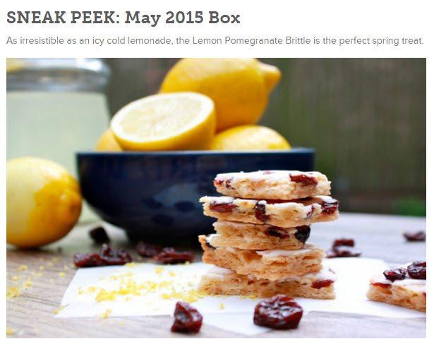 May 2015 Orange Glad Sweet Treat Box Sneak Peek