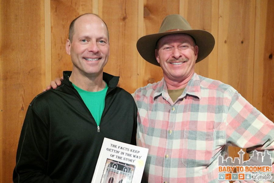 My husband and storyteller Michael Peach at the Sedona Heritage Museum - #MyGrouponGetaway ad
