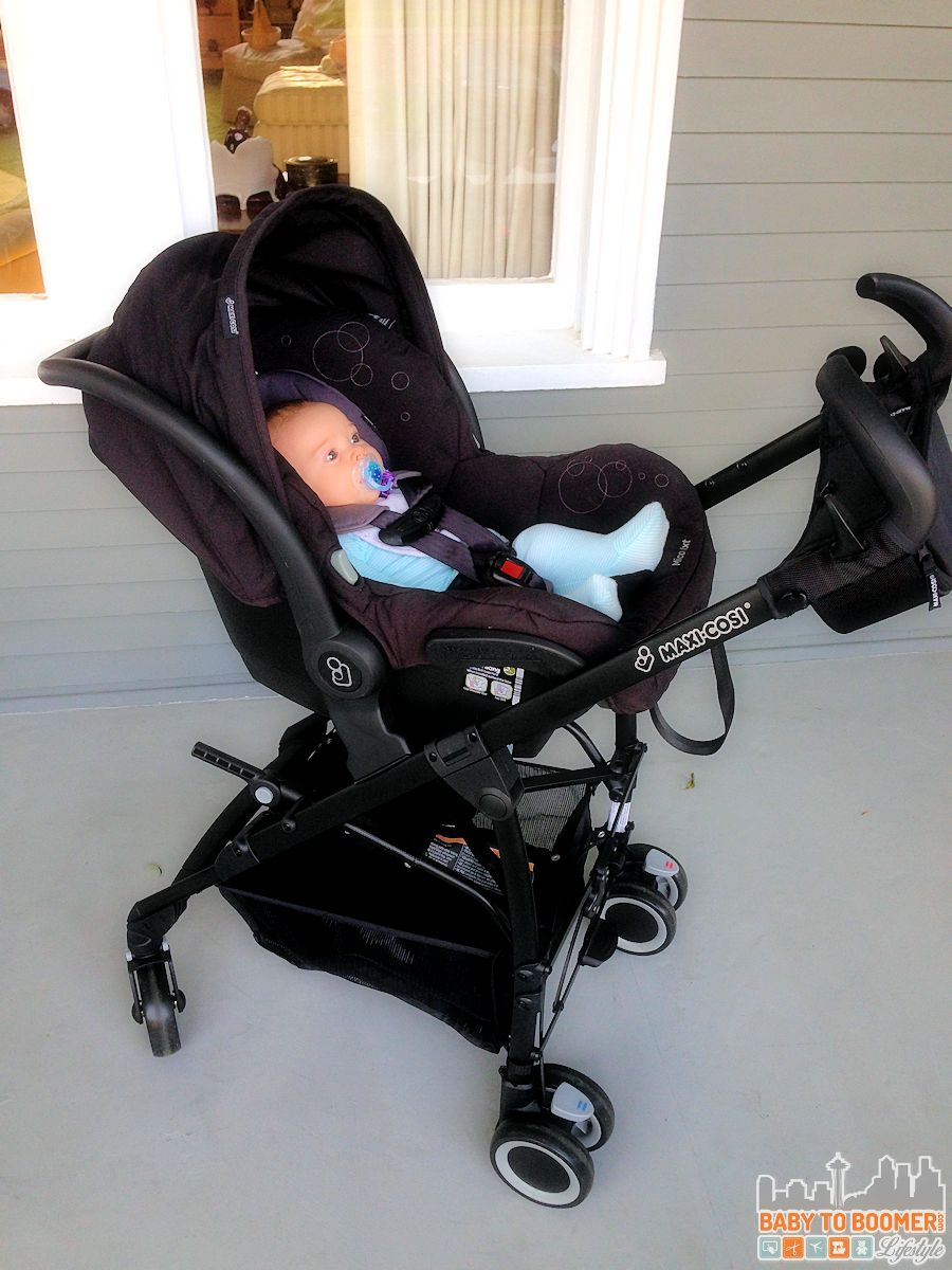 Ready to Roll in the Maxi-Cosi Maxi-Taxi and Infant Car Seat Carrier #MaxiCosiTarget ad