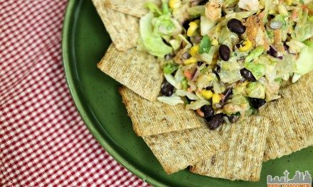3-Ingredient Triscuit Challenge: Southwest Veggie Caviar, Chicken, and BBQ Ranch Dressing