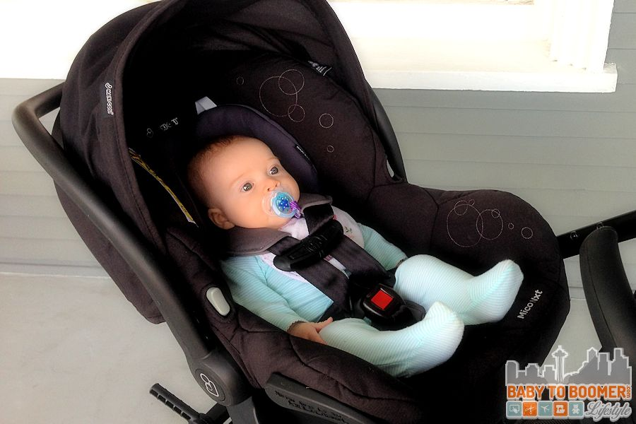Safe and Snuggly in the Maxi-Cosi Maxi-Taxi and Infant Car Seat Carrier #MaxiCosiTarget ad