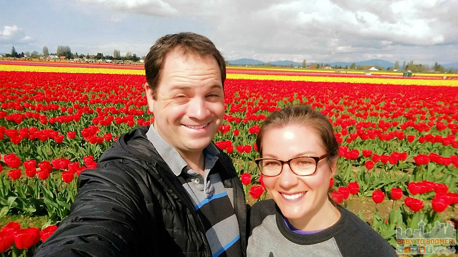 Skagit Valley Tulip Festival 2015 - taken with the Smart iReach™ Selfie Stick ad