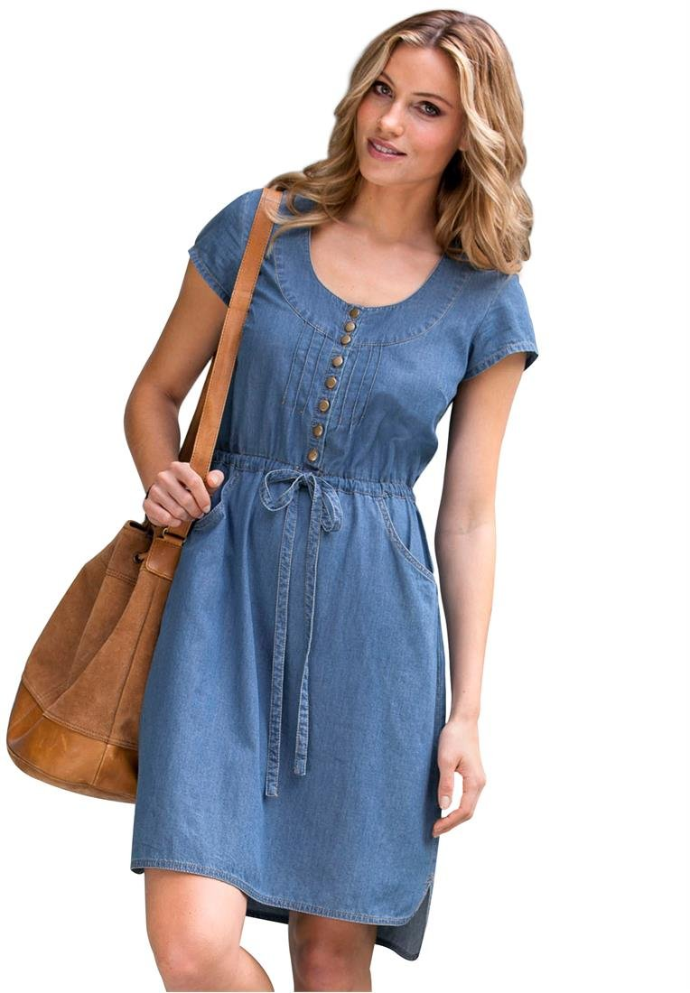 With women's denim dresses from this inspired line by Gap, you'll have a fashionable look for a number of occasions. Dresses Made from Attractive Denim. Browse this amazing selection at Gap, and find the denim dress that works for your individual personality and attitude.