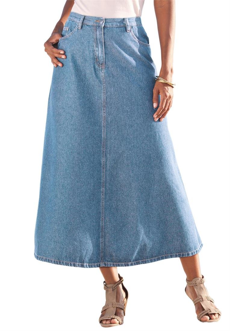 Plus Size Clothing Spring 2015 Trends - Denim! Shirts,  skirts, capris, and jackets - what's hot now and perfect to add to your wardrobe.