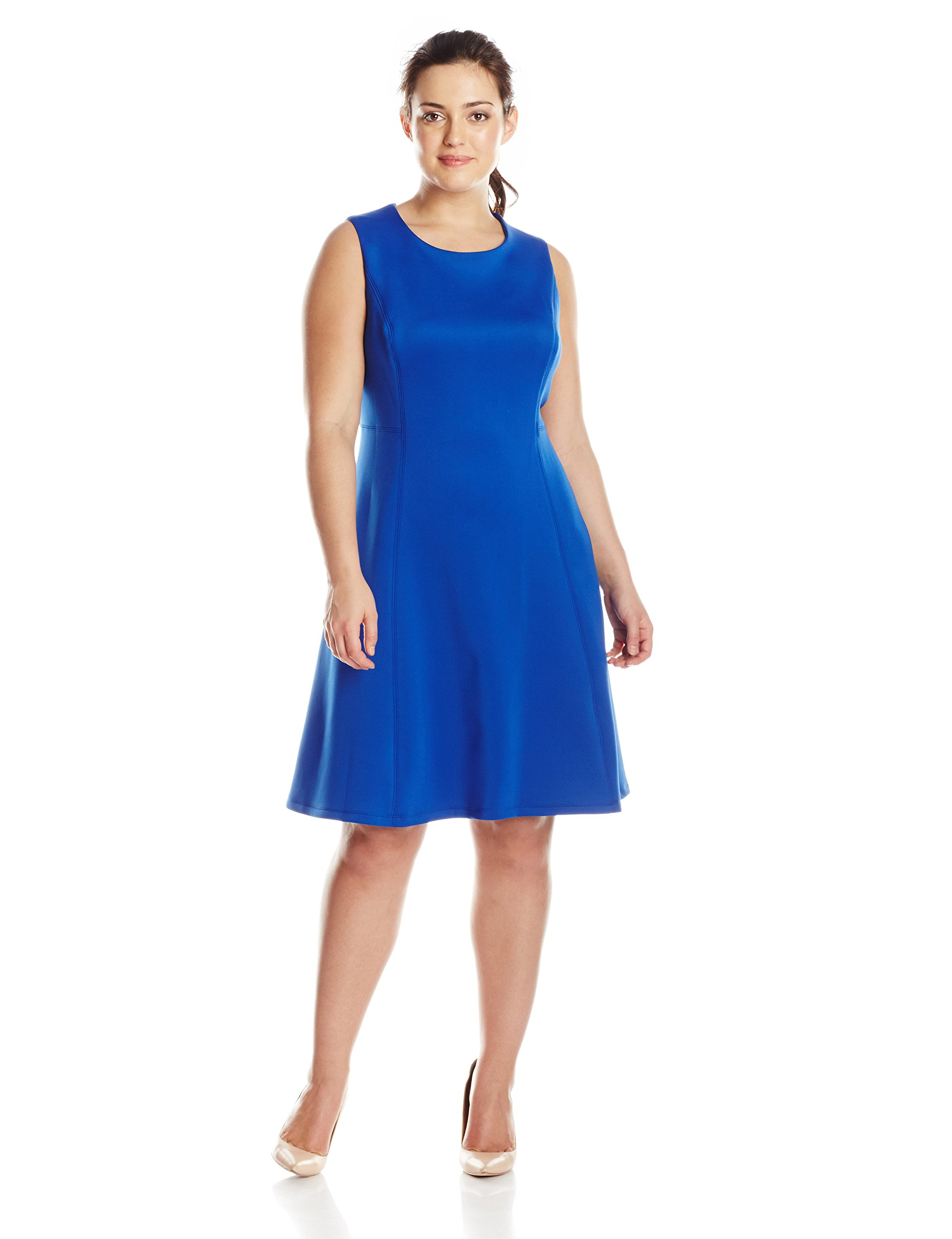 Calvin Klein Women's Plus-Size Regatta Fit and Flare Dress