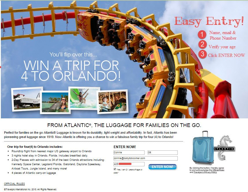 Travel: The Way it Was Plus Atlantic Luggage Orlando Vacation Giveaway ad