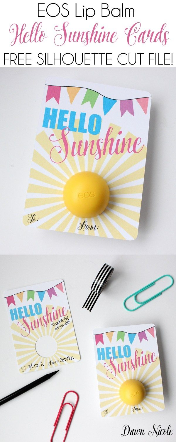 Hello Sunshine EOS Lip Balm Card