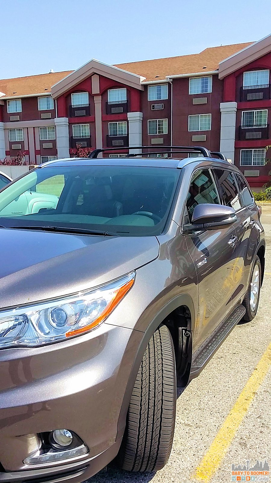 Our car parked outside the Holiday Inn Express in Wenatchee - convenient parking is part of the great experience we had there. - IHG Rewards Club - Earn Points For Your Hotel Stay & #ShareForever Giveaway ad