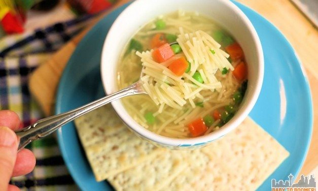 Vegetarian Chicken Noodle Soup in 5 Minutes