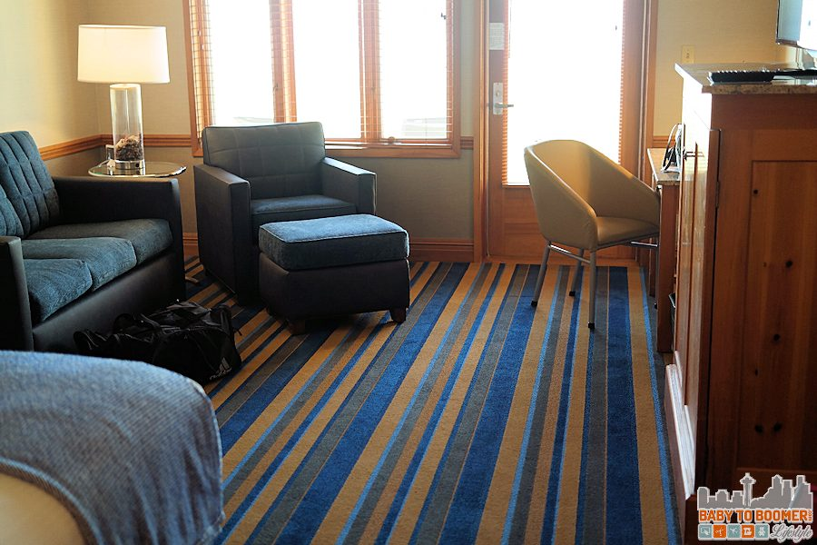 A pet-friendly room at the Semiahmoo Resort.
