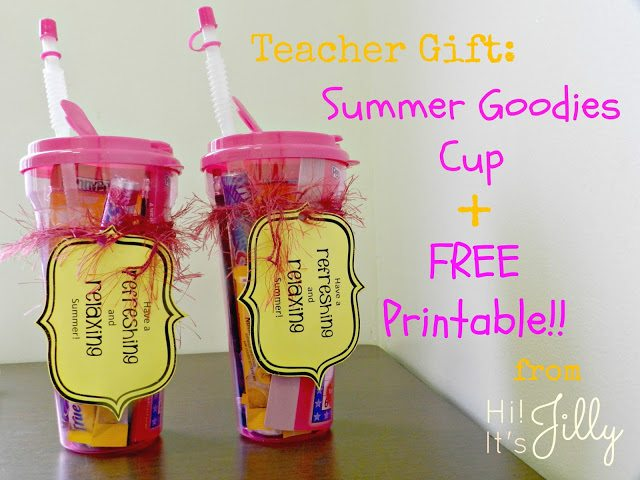 Summer Goodies Cup + Free Printable
