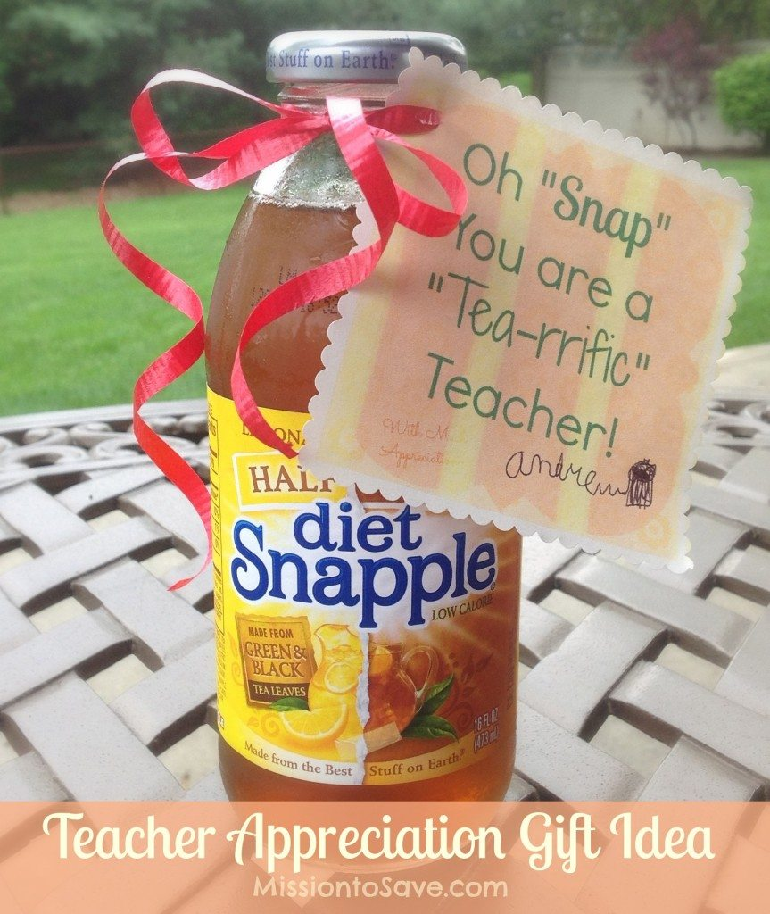Teacher Appreciation Gift Idea with Snapple Tea