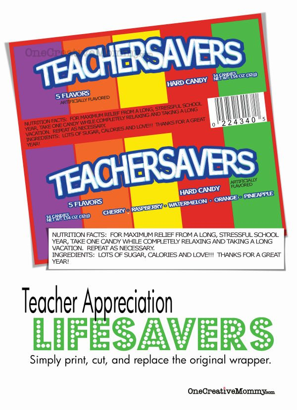Teacher Savers - Teacher Appreciation Gift