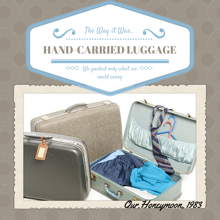 Traveling Wasn't easy with hand carried luggage - Travel: The Way it Was Plus Atlantic Luggage Orlando Vacation Giveaway ad