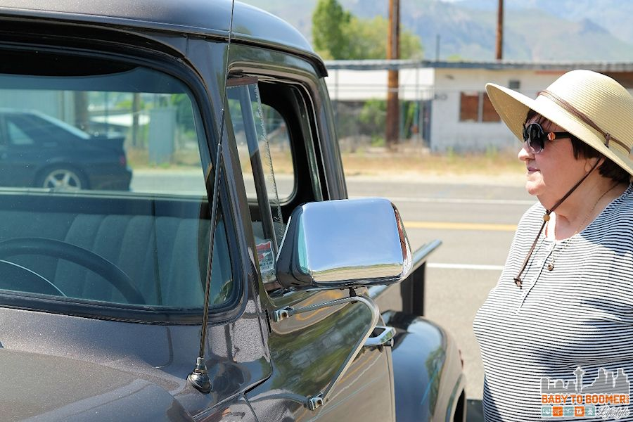 Mom loved checking out the vintage cars that were there for a weekend event. - IHG Rewards Club - Earn Points For Your Hotel Stay & #ShareForever Giveaway ad