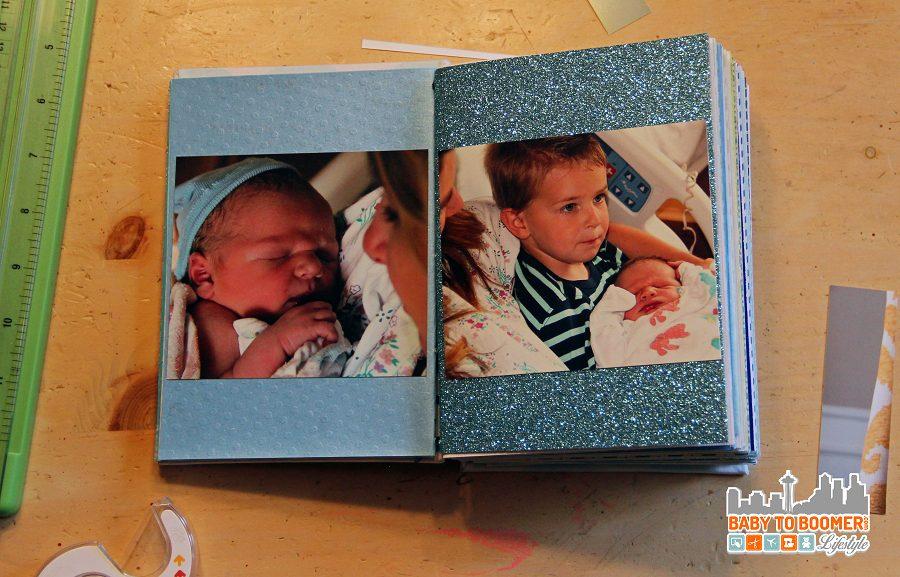 Baby book interior