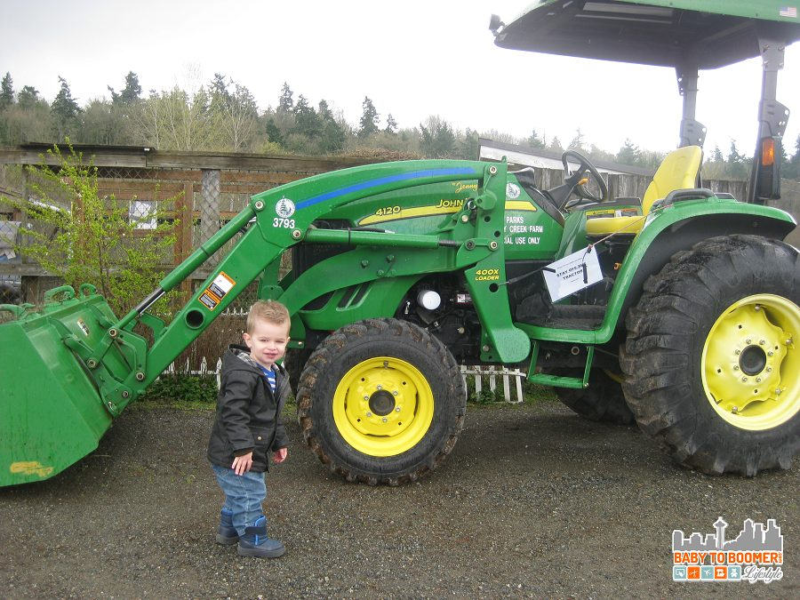 Kid Friendly Seattle: A Visit to Kelsey Creek Farm - Tractor at Kelsey Creek Farm