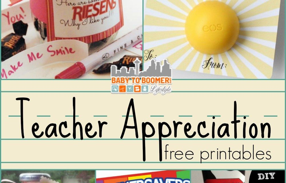 photograph regarding Free Printable Teacher Gift Tags named Trainer Appreciation Present Designs and Free of charge Printables