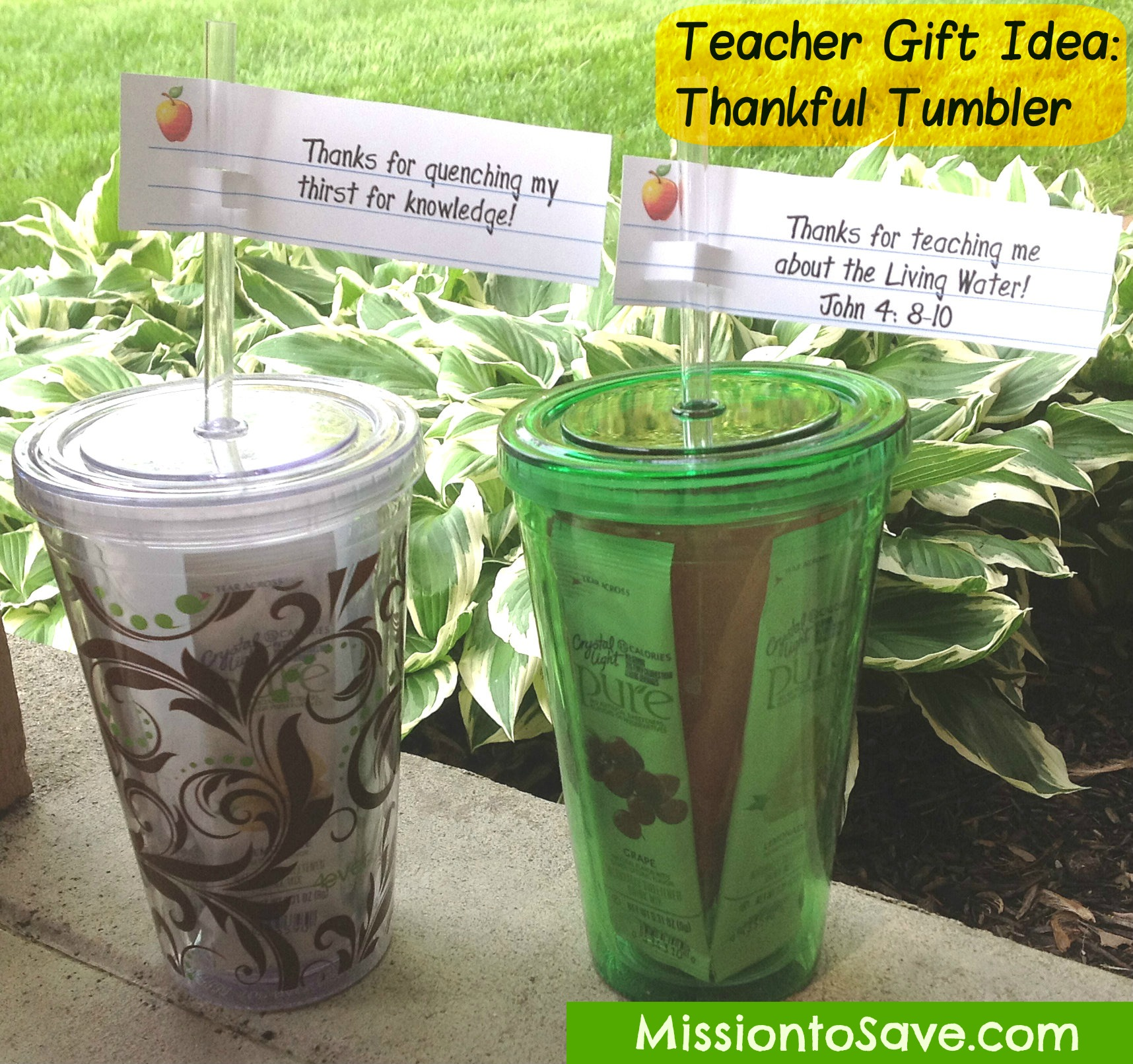 Teacher gifts thankful tumbler