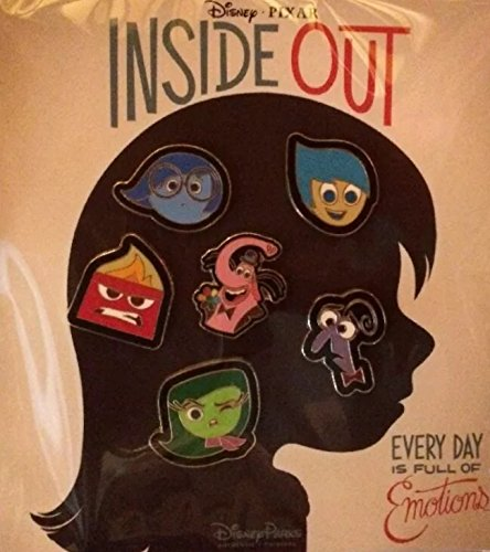 Disney-Pixar Inside Out 6 Pin Starter Set includes Sadness, Fear, Anger, Disgust, Joy, and  Bing Bong