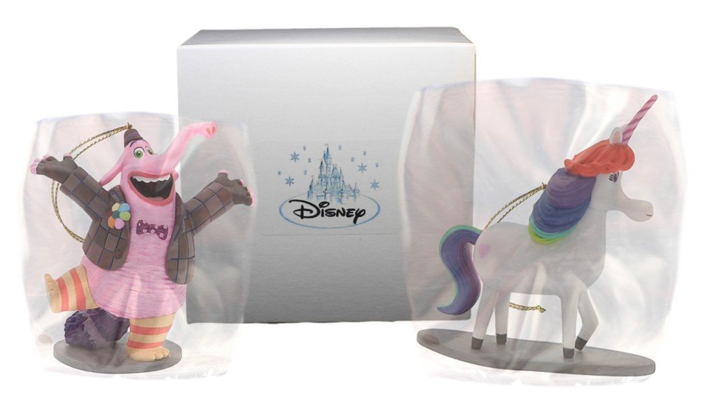 "Disney-Pixar ""Inside Out"" 2pc Ornament Set - Bing Bong and Rainbow Unicorn"