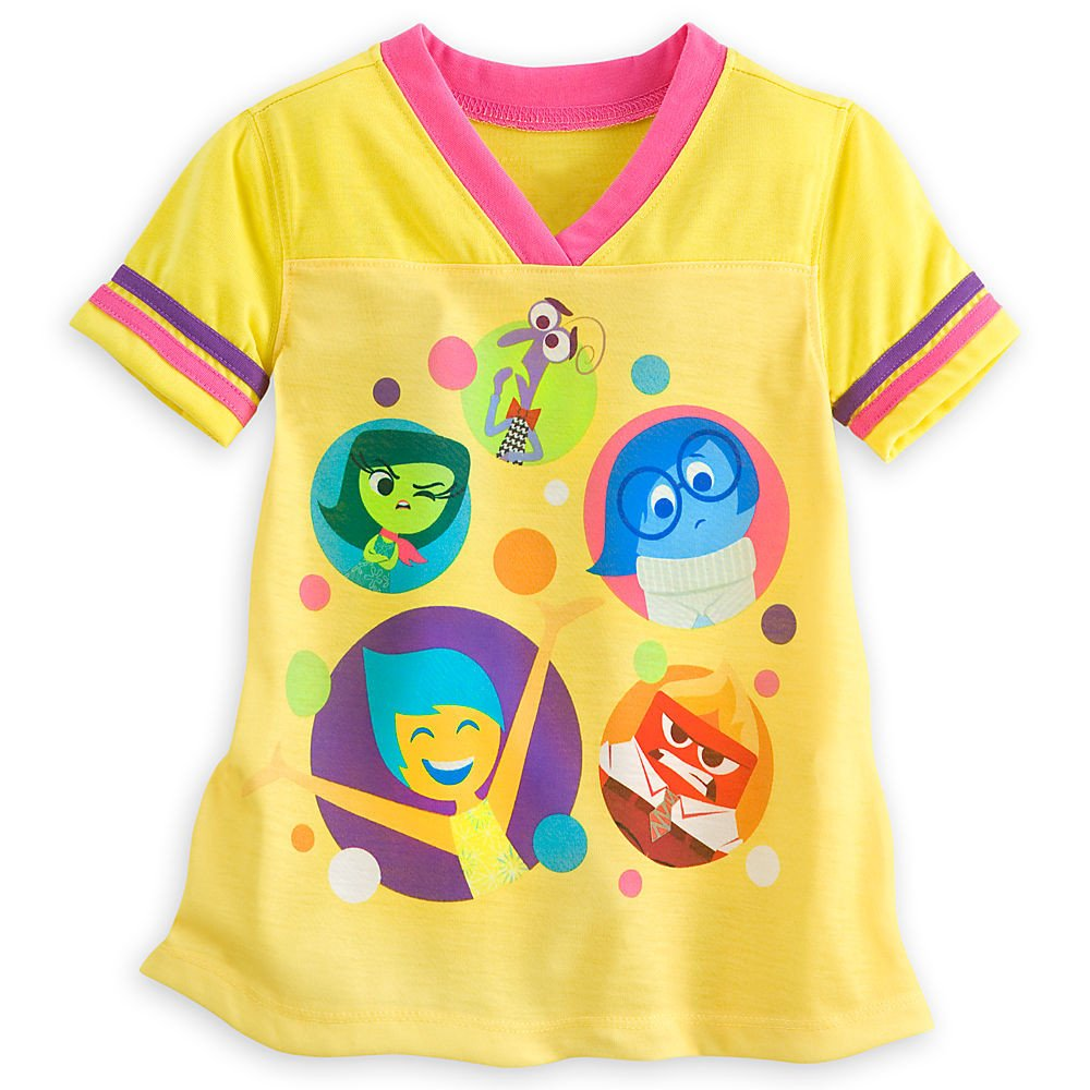 Disney Store Deluxe Inside Out Pajamas Sleep Set featuring Fear, Anger, Disgust, and Sadness