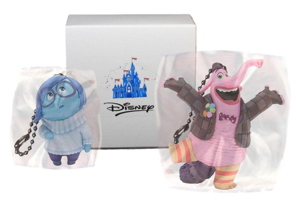 """Disney Inside Out """"Bing Bong & Sadness"""" 2 pc. Keychain or zipper pull"""