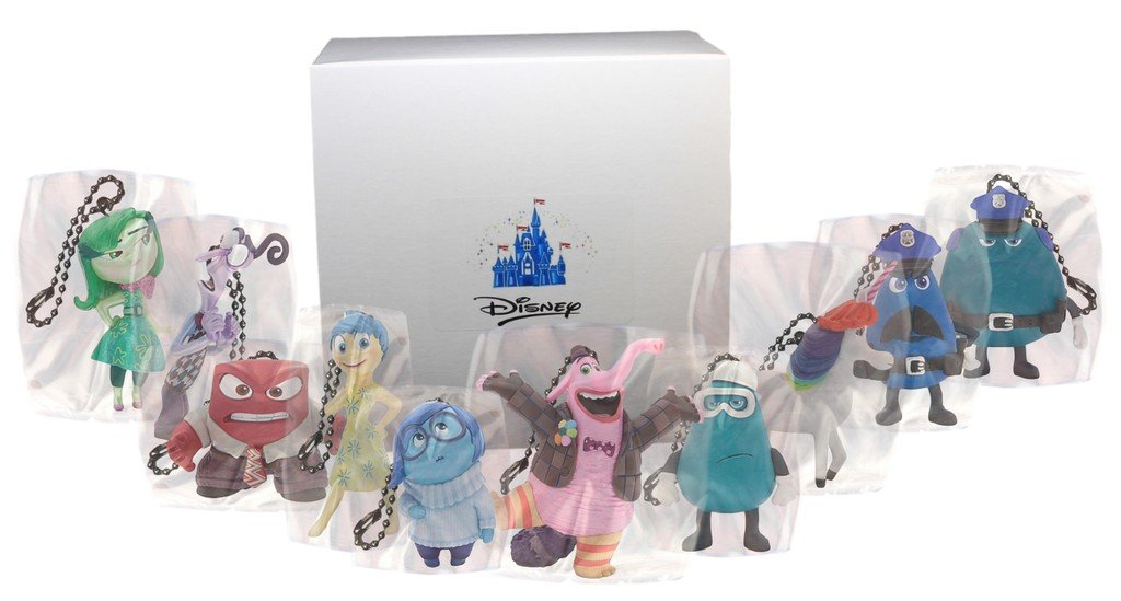 "Disney ""Inside Out"" Ten Character Key Chain Set"