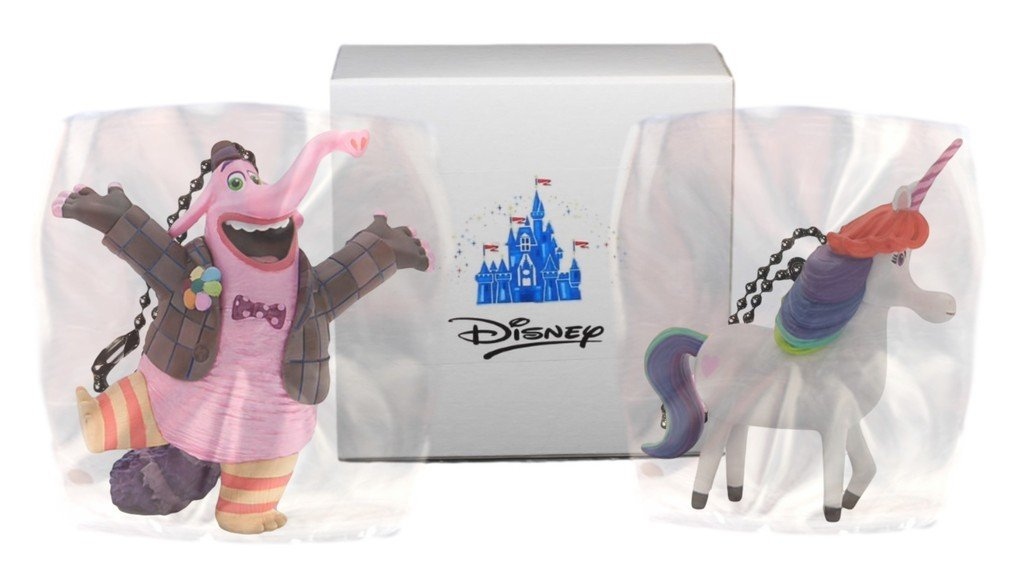 "Disney Inside Out ""Bing Bong & Rainbow the Unicorn"" 2 pc. Key chain Set or zipper pull"