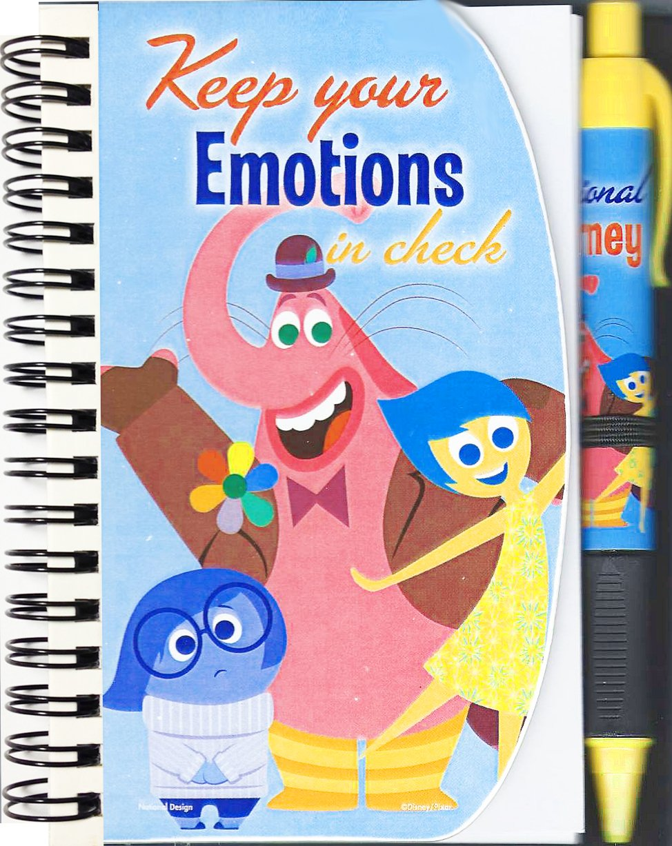 Disney-Pixar Inside Out Pen and Notebook Set - Keep Your Emotions In Check Journal.