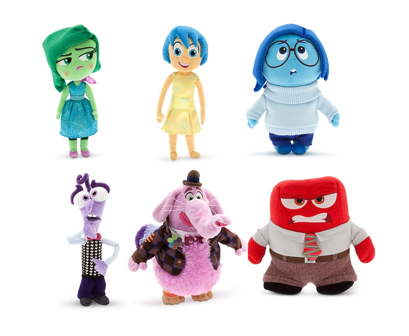 Disney/Pixar's Inside Out 6 Plush Set - Bing Bong, Joy, Anger, Fear, Sadness & Disgust - 11 inches