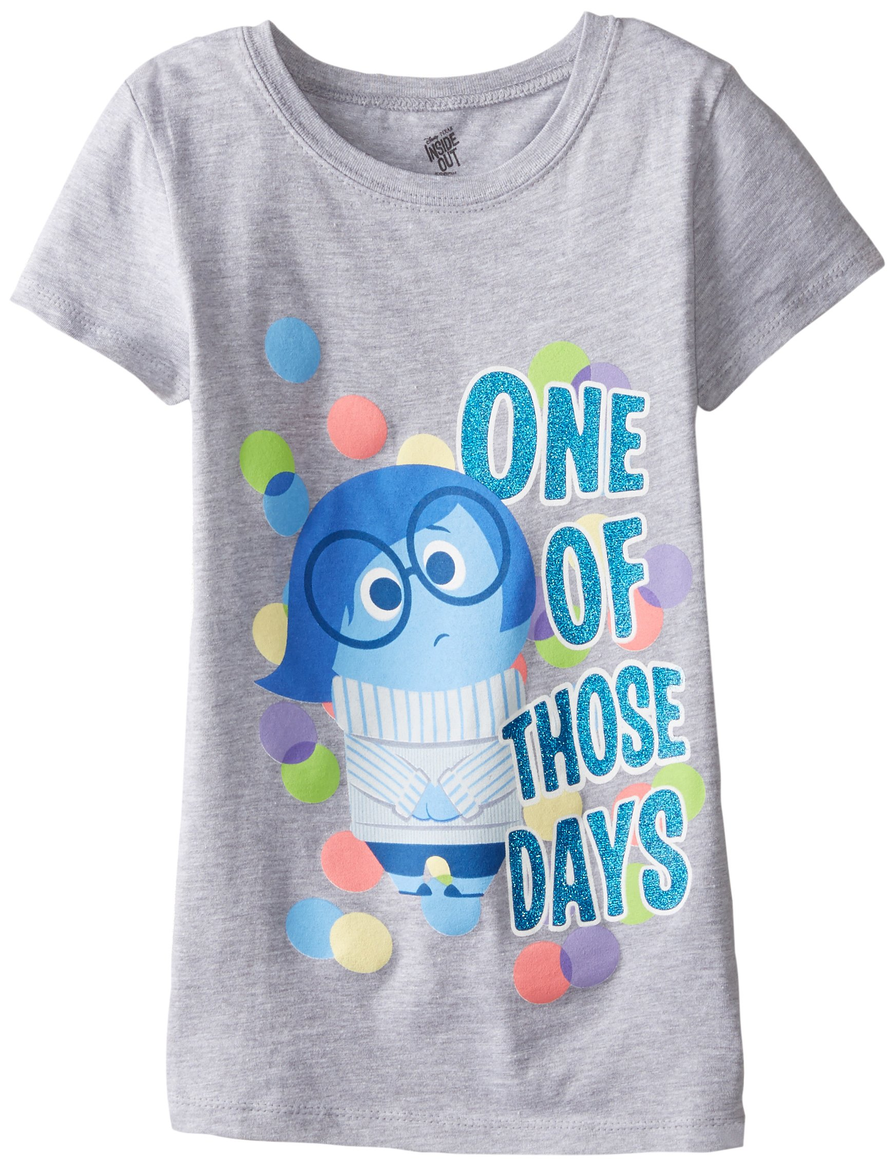 Disney Girls' Inside Out Sadness One Of Those Days Tee in Heather Grey