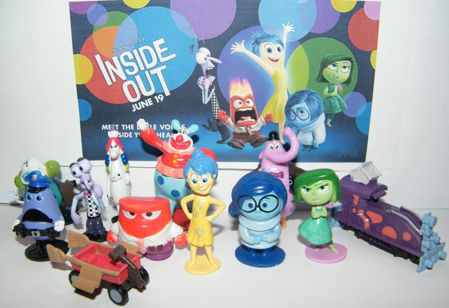 "Disney ""Inside Out"" Movie Figure Set - Toy Playset of 12 with Joy, Fear, Anger, Sadness, Disgust, Bing Bong, Rainbow Unicorn, Jangles the Clown Etc and Special Collectible."