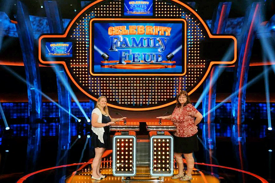 Celebrity Family Feud - We try our hand at the buzzers after the show taping